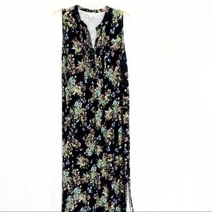 J Jill Floral Maxi Dress Size Large